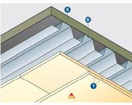 Teherhordó acél trapézlemez  tetők tűzvédelmére